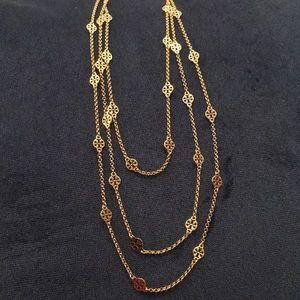 Tory Burch Gold TT Logo necklace